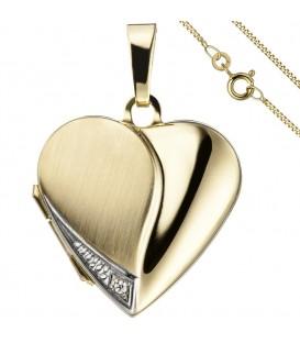 Medaillon Herz Anhänger zum - 49876