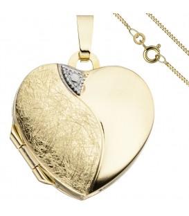 Medaillon Herz Anhänger zum - 49879