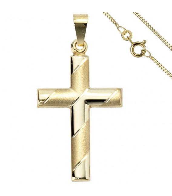 Anhänger Kreuz 333 Gold - 49888