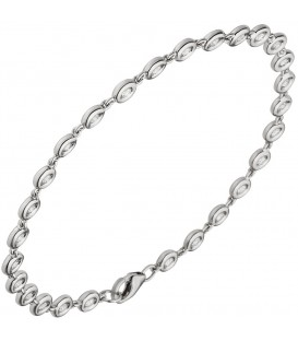 Armband 585 Gold Weißgold - 48886