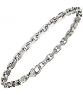Ankerarmband 585 Gold Weißgold diamantiert 21 cm Armband Weißgoldarmband - 48952