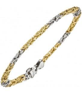 Königsarmband 375 Gold Weißgold - 49053