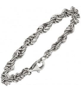 Kordelarmband 925 Sterling Silber 19 cm Armband Silberarmband.
