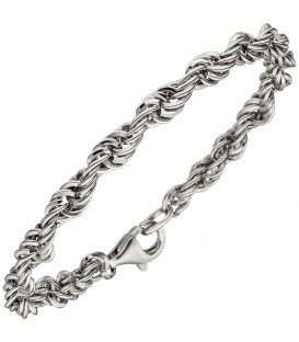 Kordelarmband 925 Sterling Silber 21 cm Armband Silberarmband.