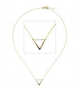 Collier Halskette Dreieck 585