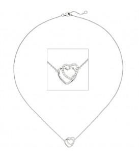 Collier Halskette Herzen 925