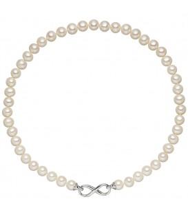 Halskette Perlenkette Unendlichkeit Süßwasser