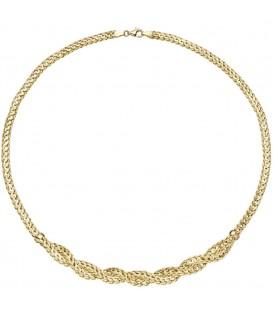 Collier Halskette geflochten 585