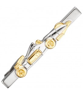 Krawattenklammer Rennwagen Metall bicolor - 4053258296370