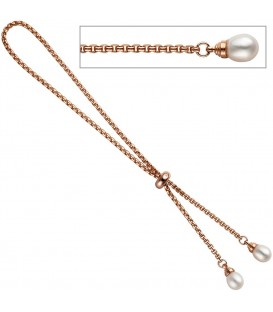 Venezianerarmband 925 Silber rotgold - 4053258297537