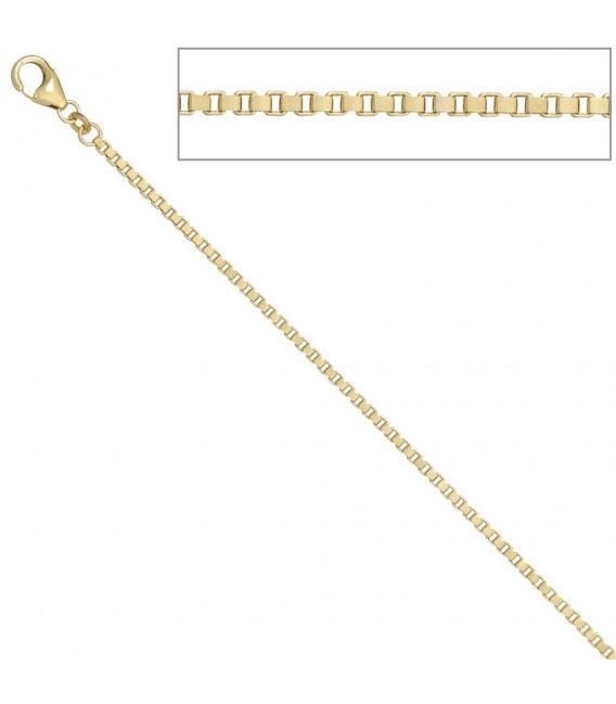 Venezianerkette 585 Gelbgold 2,0 mm 80 cm Gold Kette Halskette Goldkette. Zoom