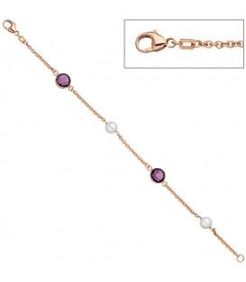 Armband 925 Silber rotgold - 4053258319697