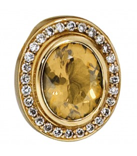 Anhänger oval 585 Gold - 4053258023037 Produktbild