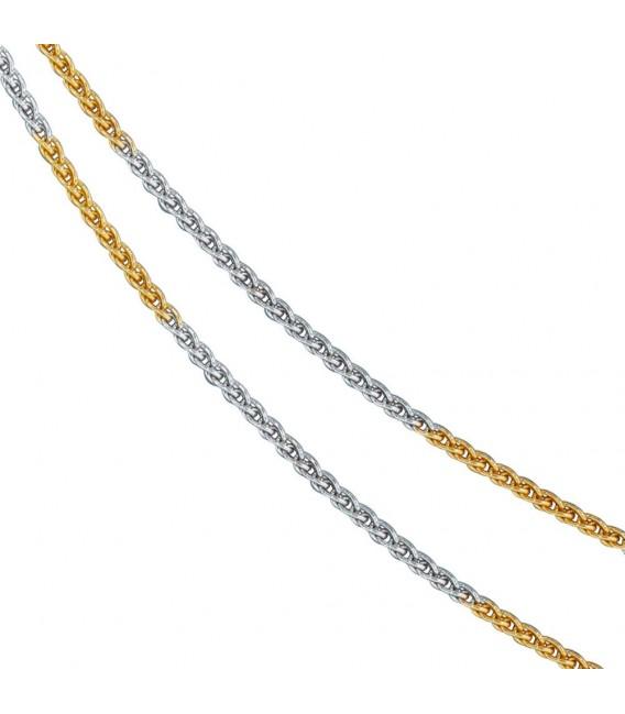 Zopfkette 333 Gelbgold Weißgold - 4053258063583 Zoom