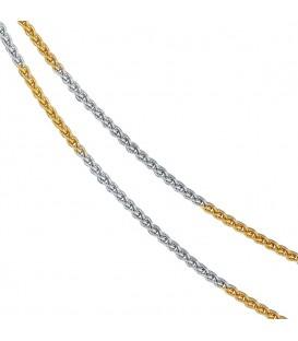 Zopfkette 333 Gelbgold Weißgold - 4053258063583 Produktbild