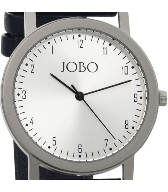 JOBO Linksläufer Armbanduhr Titan Quarz Analog Leder Linksläuferuhr.