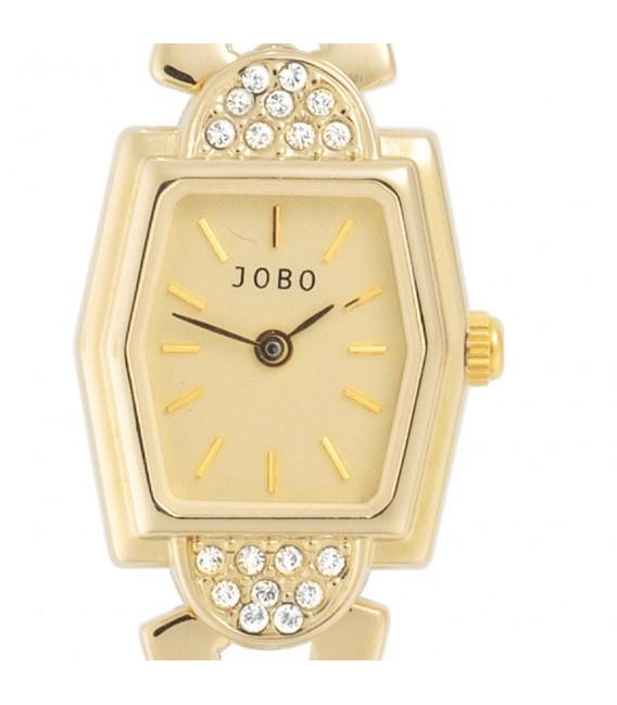 JOBO Damen Armbanduhr Quarz Analog vergoldet Damenuhr eckig. Zoom