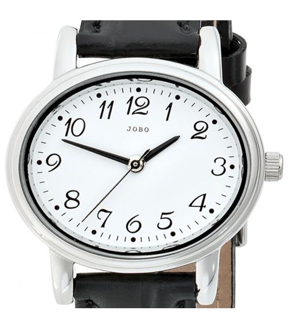 JOBO Damen Armbanduhr Quarz Analog Edelstahl Leder Damenuhr oval.