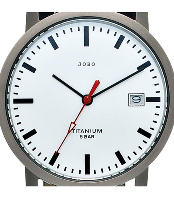 JOBO Damen Armbanduhr Quarz Analog Titan Leder Datum Damenuhr.