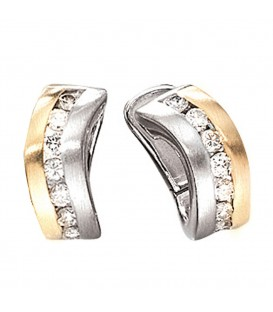 Creolen 585 Gold Weißgold - 4053258035702 Produktbild