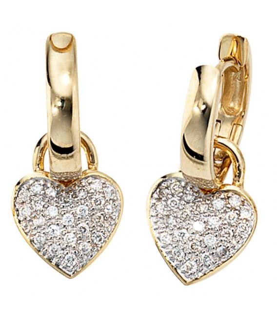 Creolen Herz 585 Gold - 4053258038376