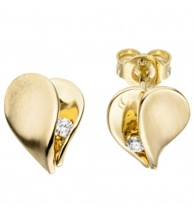 Ohrstecker Herz 585 Gold - 4053258313480