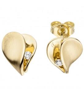Ohrstecker Herz 585 Gold - 4053258313480 Produktbild