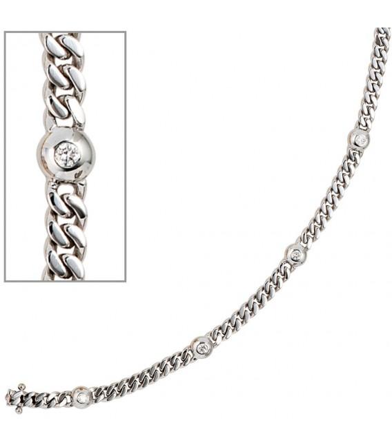 Armband 585 Gold Weißgold - 4053258035825