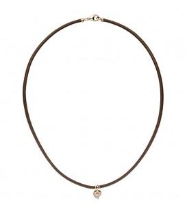 Collier Halskette Leder taupe - 4053258346679