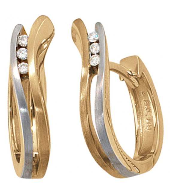 Creolen 585 Gold bicolor - 4053258039816 Zoom