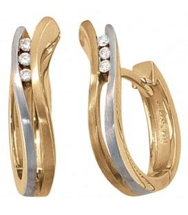 Creolen 585 Gold bicolor - 4053258039816 Produktbild