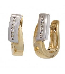 Creolen 585 Gelbgold Weißgold - 4053258244777 Produktbild