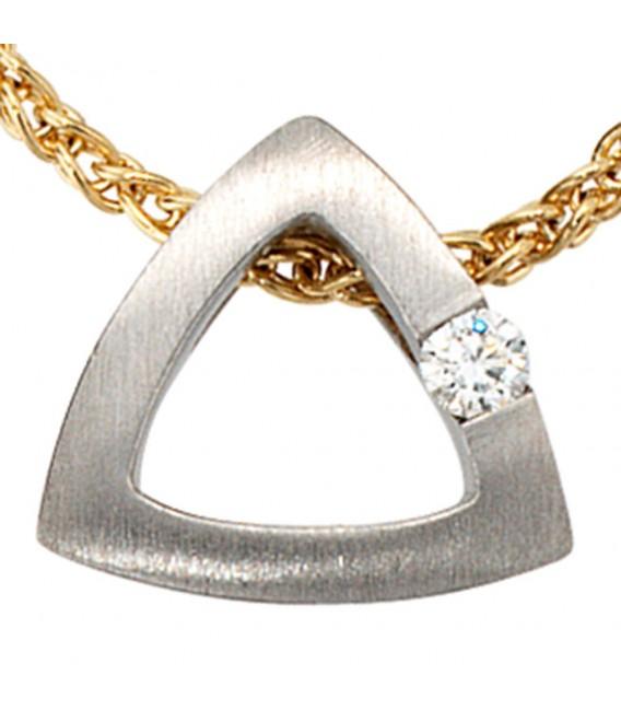 Anhänger 950 Platin mattiert 1 Diamant Brillant 0,08ct. Platinanhänger.