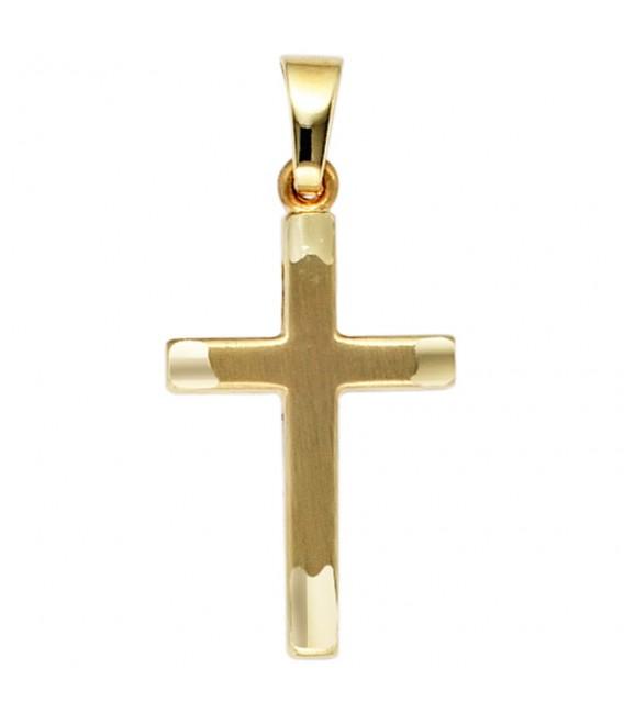 Anhänger Kreuz 333 Gold - 4053258202661