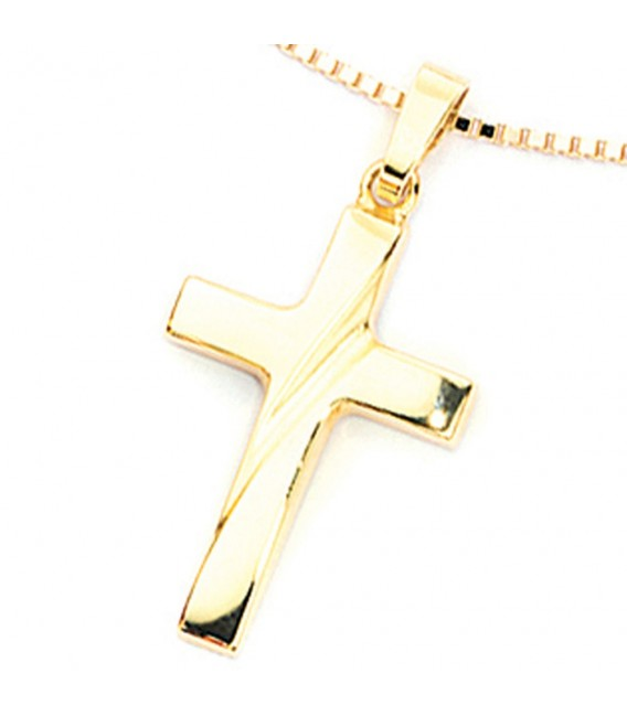 Anhänger Kreuz 333 Gold Gelbgold Kreuzanhänger Goldkreuz.