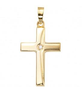 Anhänger Kreuz 333 Gold - 4053258045923