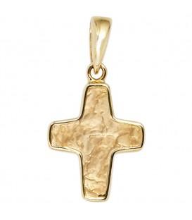 Anhänger Kreuz 585 Gold - 4053258202791
