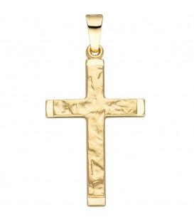 Anhänger Kreuz 585 Gold - 4053258324004