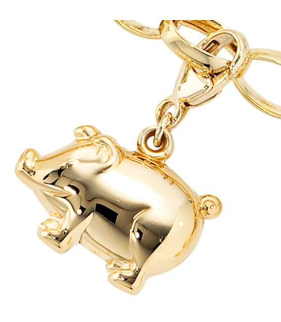 Einhänger Charm Schweinchen Schwein - 4053258046210