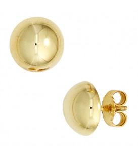 Ohrstecker Halbkugel 333 Gold - 4053258247709