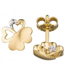 Ohrstecker Kleeblatt 333 Gold - 4053258281093