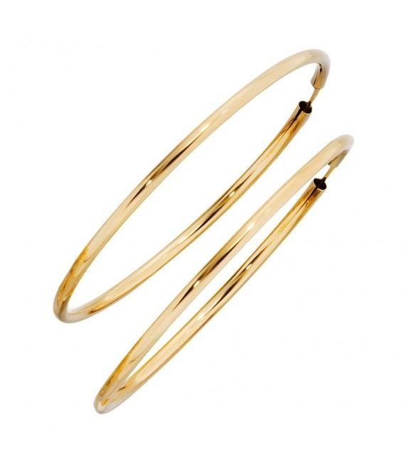 Creolen rund 333 Gold Gelbgold Ohrringe Goldohrringe Goldcreolen.
