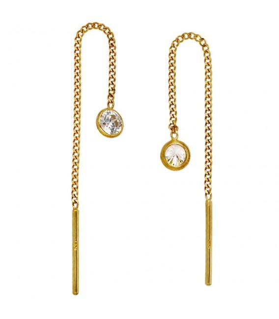 Durchzieh-Ohrhänger 333 Gold Gelbgold - 4053258204085