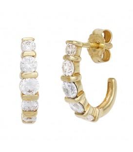 Halbcreolen 333 Gold Gelbgold - 4053258249284