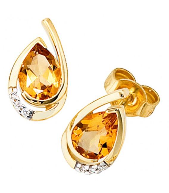 Ohrstecker Tropfen 585 Gold - 4053258053102