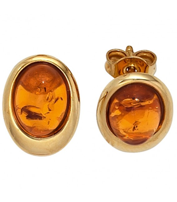 Ohrstecker oval 375 Gold - 4053258205617