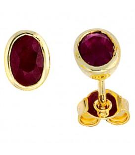 Ohrstecker oval 585 Gold - 4053258056851 Produktbild