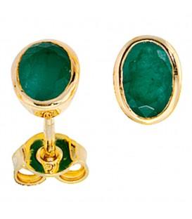Ohrstecker oval 585 Gold - 4053258056875 Produktbild