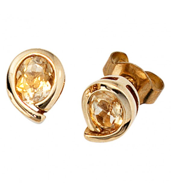 Ohrstecker Tropfen 333 Gold - 4053258051757