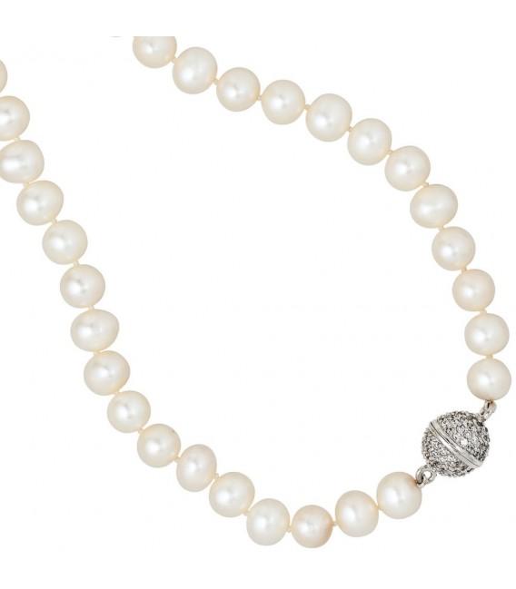 Collier Perlenkette Süßwasser Perle - 4053258061602
